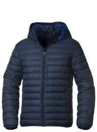 Moderne jas met gewatteerde voering