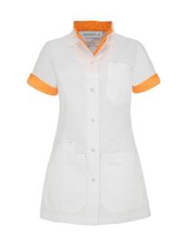 Damesjack wit-oranje