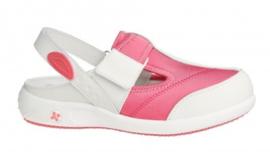 Comfortsandaal 2-way aanpasbaar - Wit/Roze
