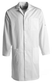 UNISEX Medische jas met hoge halssluiting en lange mouw, Wasbaar op 90'