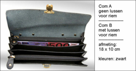 Portemonnee zonder lussen, 18X10 cm