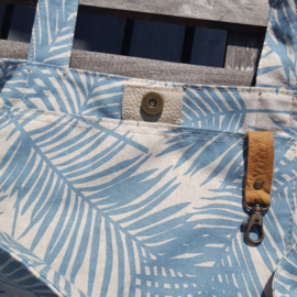 Zomertas Summerbreeze Palm Leave Aqua