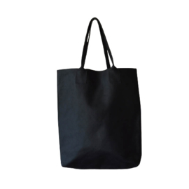 Shopper Plain XL NO words - Nero