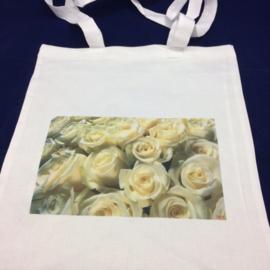 Witte rozen - draagtas