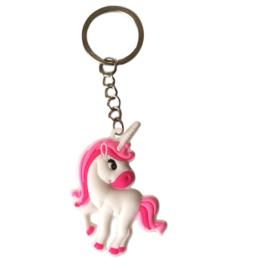 Eenhoorn sleutelhanger Roze-Lady