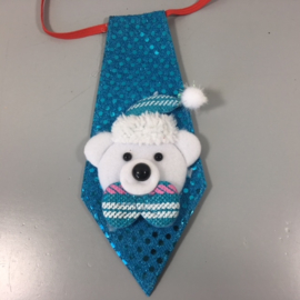 Kerst stropdasje sneeuwbeertje