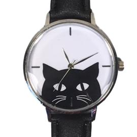 Horloge zwarte kat