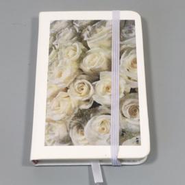 Notitieboekje Witte rozen