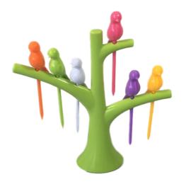 Vogelboom cocktailprikkers groen