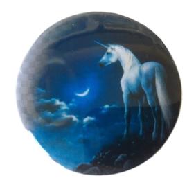 Eenhoorn Blauwe Maan broche / button