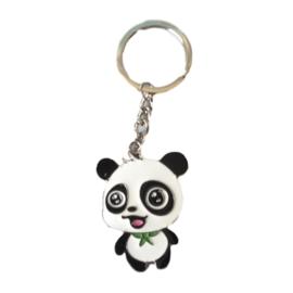 Sleutelhanger baby panda met strikje