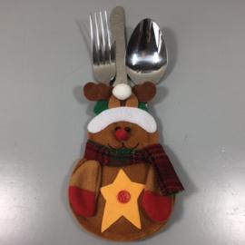 Kerst bestekhouder Rudolph