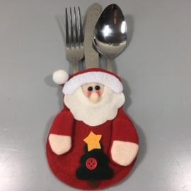 Kerst bestekhouder Santa