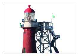 Ansichtkaart vuurtoren vlieland A6 10 stuks (€7,52 ex btw)