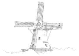 Ansichtkaart molen Formerum  pentekening A6