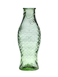 Vis Fles 1 liter transparant groen.
