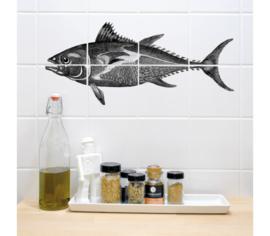 Boubouki muur/tegelsticker  Tonfisk