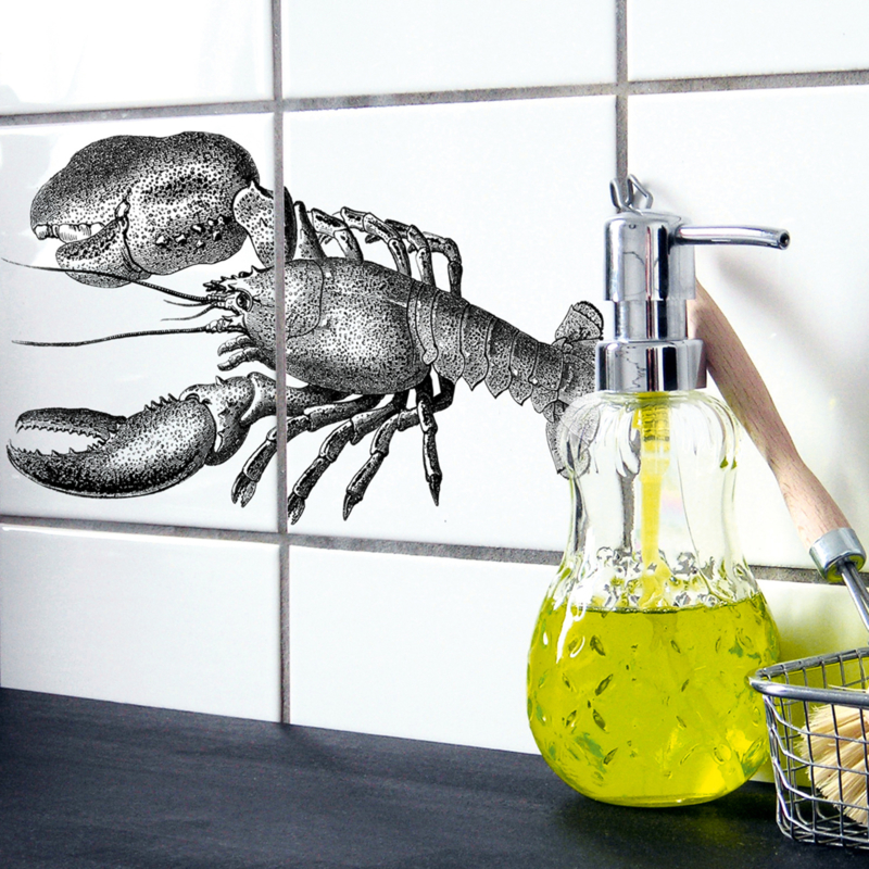 Boubouki Muur/Tegelsticker  Lobster