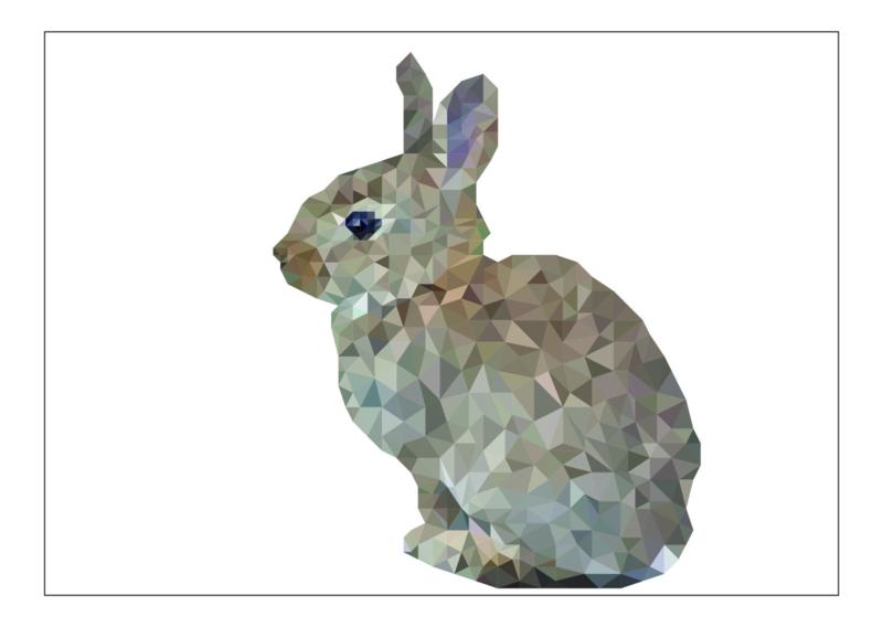 Ansichtkaart konijn A6