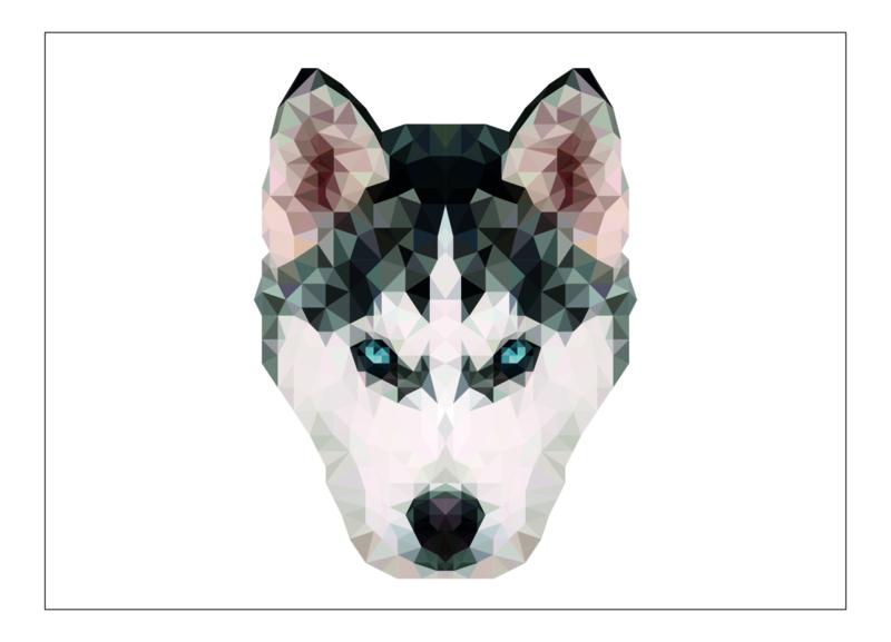 Ansichtkaart hond A6
