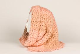 Colsjaal in zachte tinten roze, beige en bruin (CS-01)
