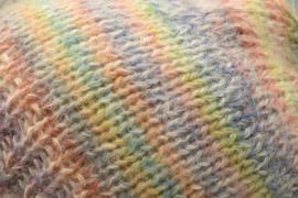 Beanie multicolor van merino, mohair en zijde