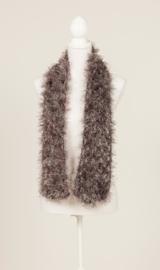 Smalle sjaal in grijs, mooi en zacht (S-03)
