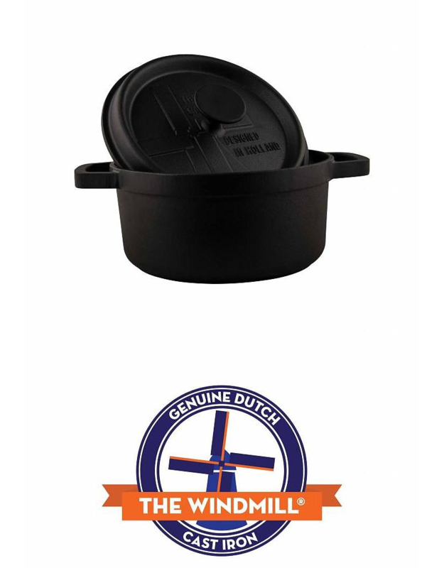 Pre-Seasoned Cast Iron BBQ Pan With Lid Large