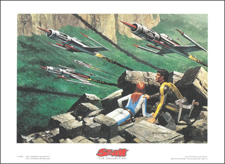 """Artprint 3 • De strijd om de Aarde - """"Op zoek naar Storm en Roodhaar"""""""