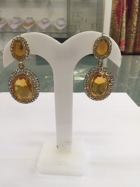 Glamour oorbellen goud