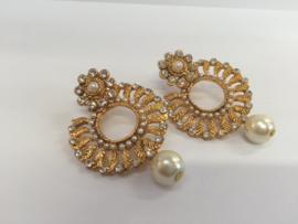Jaipur oorbellen goud