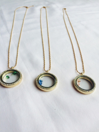 Memory lockets rond