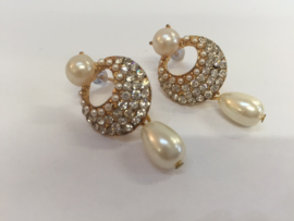 Party pearls oorbellen goud