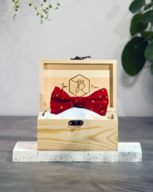 Bow Tie Christmas Red