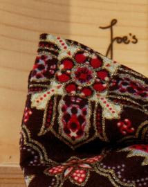 Vlinderdas Goud Rood Bruin Batik