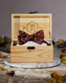 Bow Tie Batik Gold Red Brown