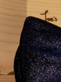 Vlinderdas Royal Velvet Blauw Glitter