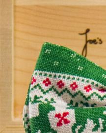Vlinderdas Christmas Reindeer Green