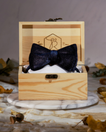 Bow Tie Royal Velvet Blue Glitter