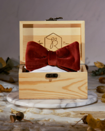 Bow Tie Royal Velvet Bordeaux