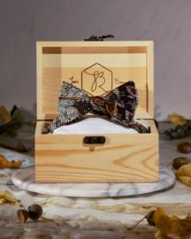 Vlinderdas Goud Zwart Bruin Batik