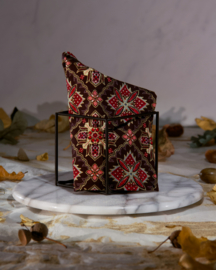 Batik Gold Red Brown Pochet