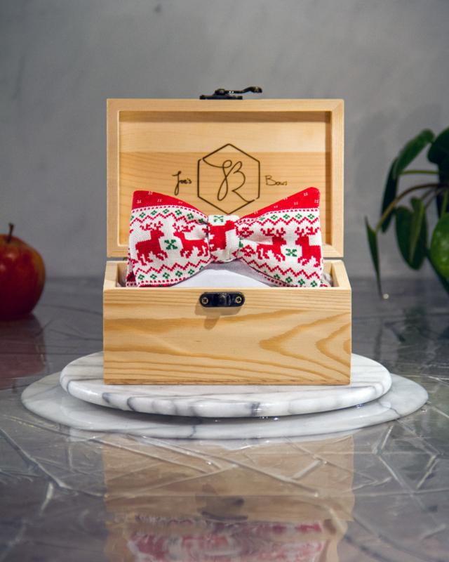 Vlinderdas Christmas Reindeer Red