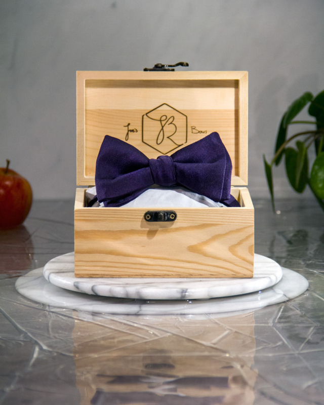 Vlinderdas Classic Royal Dark Purple