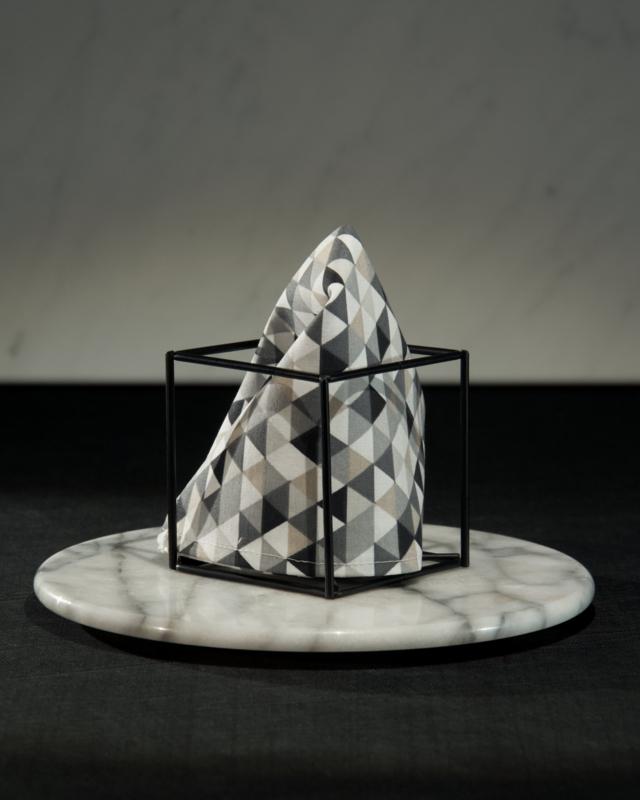 Pochet Black & White Vitalba