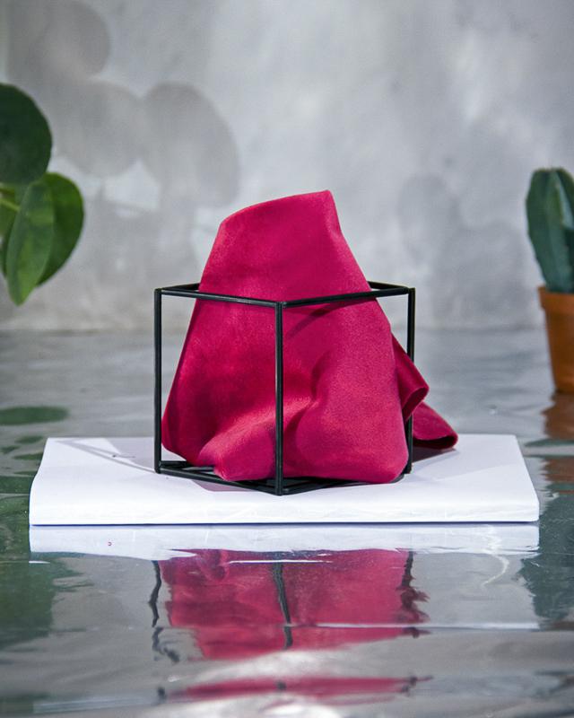 Royal Velvet Hot pink Pochet