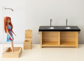Poppenvilla badkamer, By Liliane