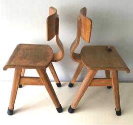 Vintage schoolstoeltje,  origineel