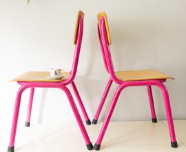 roze schoolstoeltje