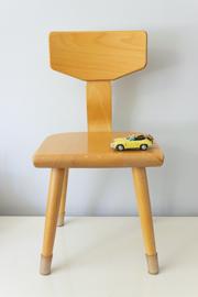 Vintage Schilte schoolstoeltje, zithoogte 30 cm